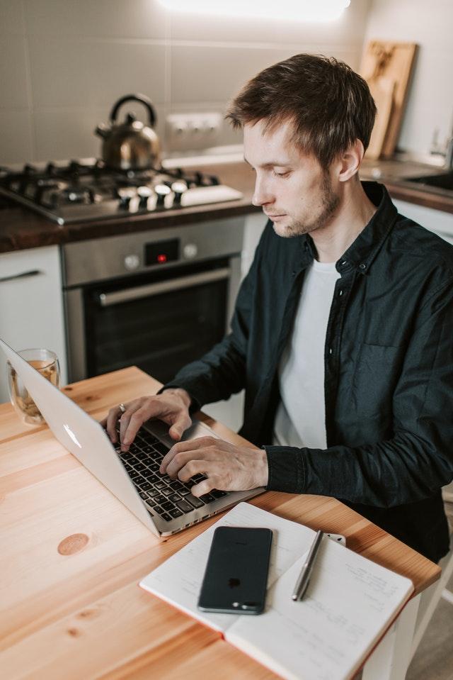 Consumer at Computer