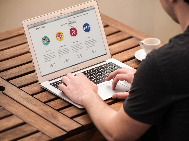 Person Creating Small Business Web Design